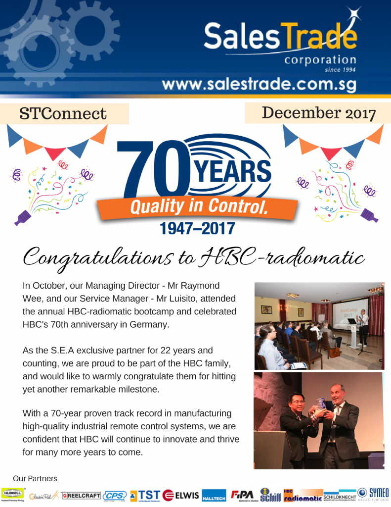 STConnect december HBC 70th anniversary