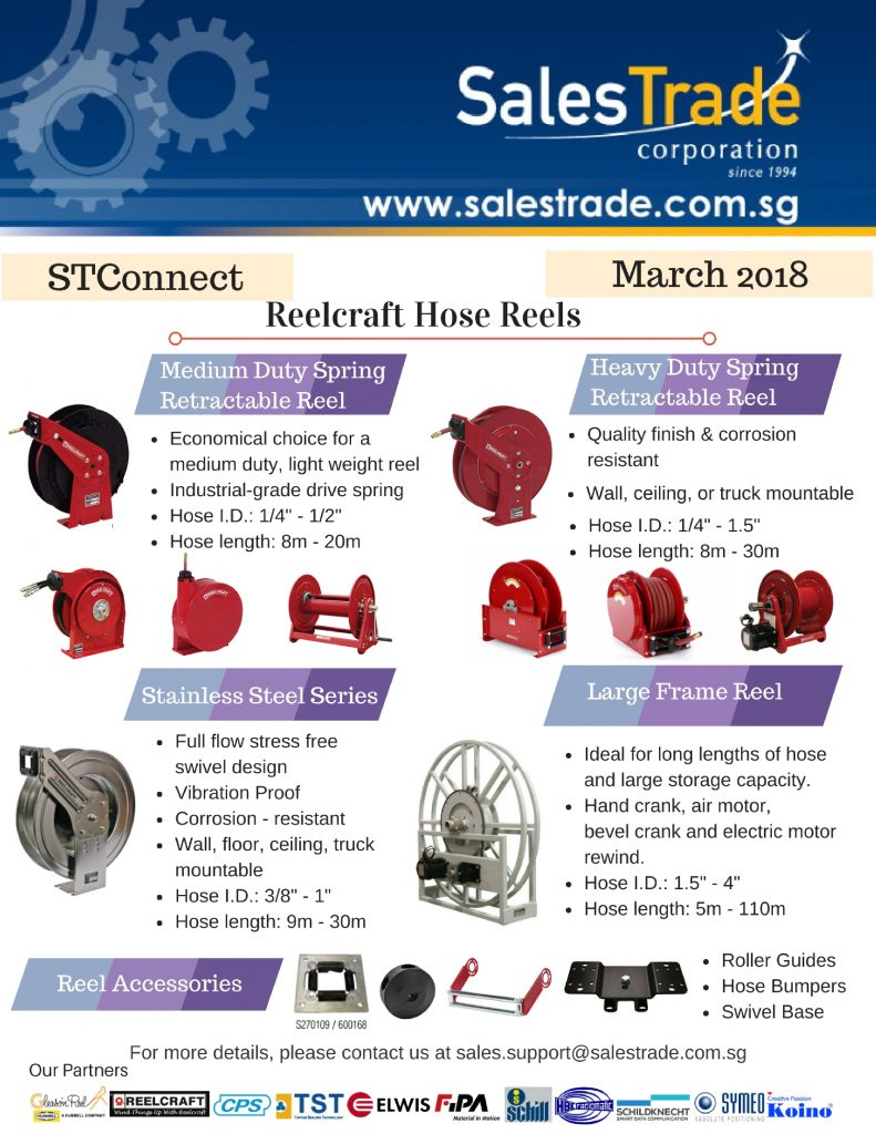STConnect, Reelcraft, hose reels
