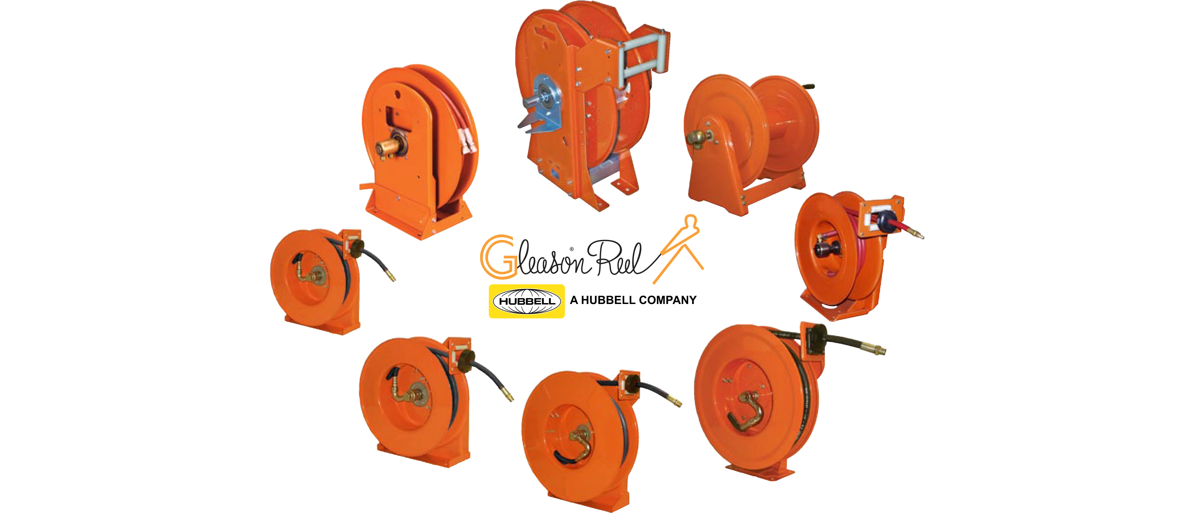Cable & hose management system using Gleason Reel and Powertrak.